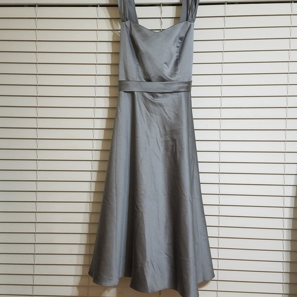 David's Bridal Dresses & Skirts - David's bridal satin wide strapped dress
